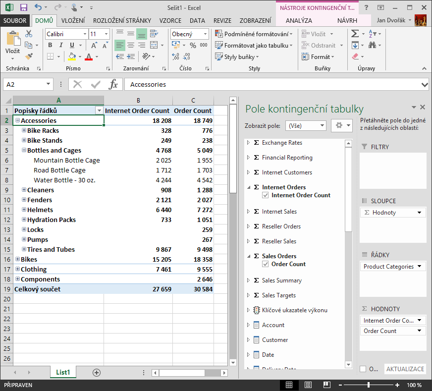 Excel-Connection-To-SSAS-Cube-Pivot-Table-Select