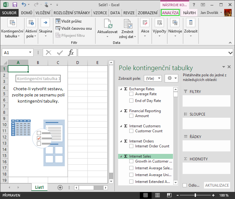Excel-Connection-To-SSAS-Cube-Pivot-Table