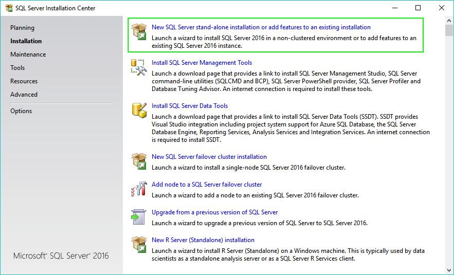 01_Installing-SQL-Server-2016-Main-Screen