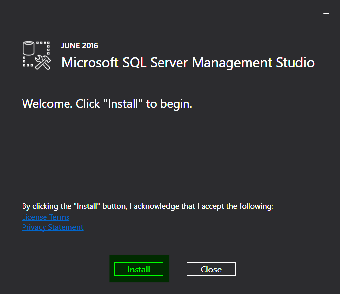 03-SQL-Server-2016-Management-Studio-Welcome