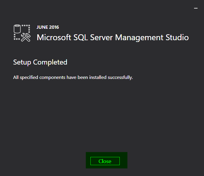 06-SQL-Server-2016-Management-Studio-Completed