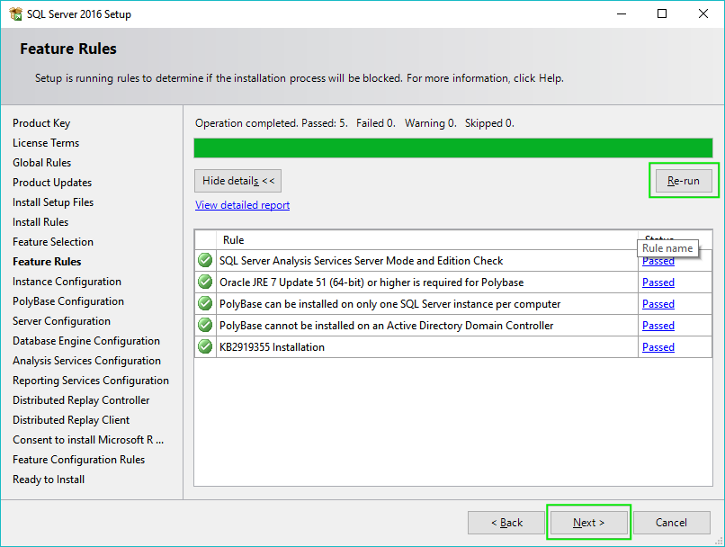 07-Installing-SQL-Server-2016-Features-Rules