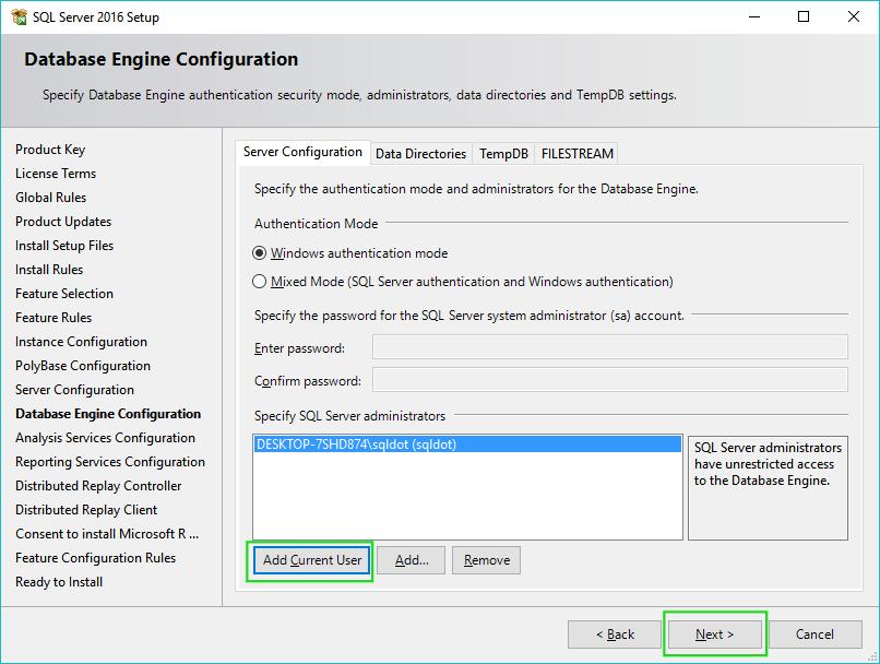 11_Installing-SQL-Server-2016-Server-Configuration-DbEngine