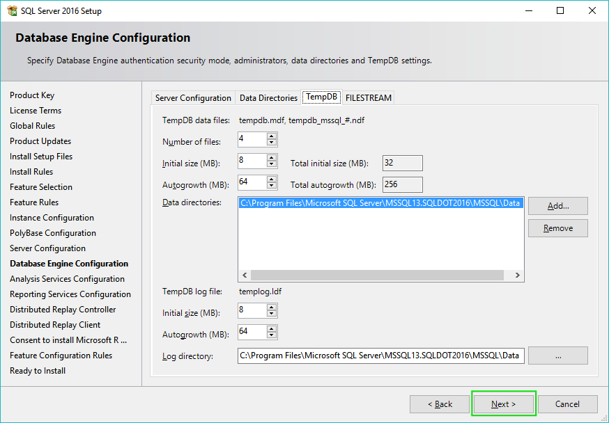 13_Installing-SQL-Server-2016-Server-Configuration-TempDB