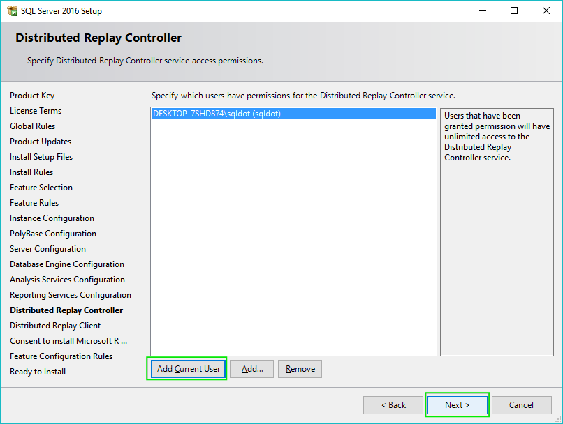 18_Installing-SQL-Server-2016-Distributed-Replay-Controller