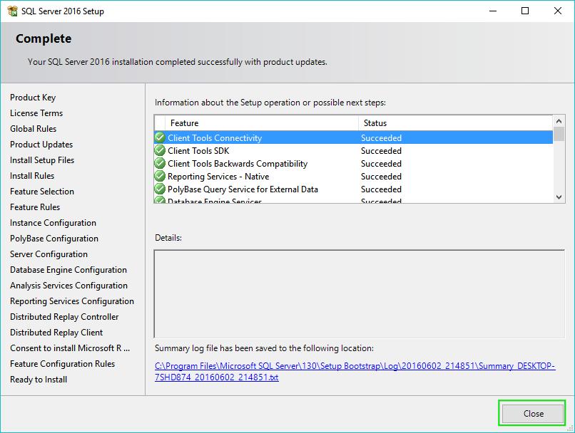 22_Installing-SQL-Server-2016-Completed